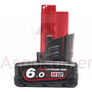 Akumulator 6,0Ah M12 B6 Milwaukee 4932 4513 95